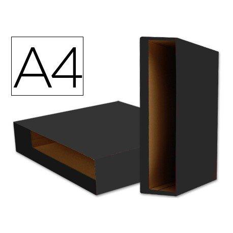 Caja archivador de palanca marca Liderpapel Din A4 Color System Negro