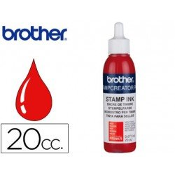 Tinta Brother Rojo para sellos automaticos de 20 cc