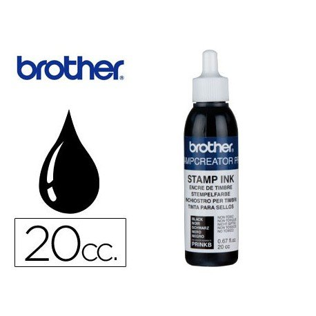 Tinta Brother Negro para sellos automaticos de 20 cc