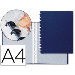 Carpeta escaparate con fundas extraibles marca Liderpapel azul