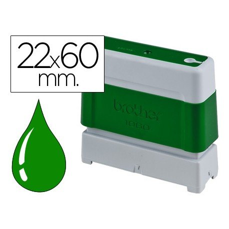 Sello Automatico marca Brother 22 x 60 verde