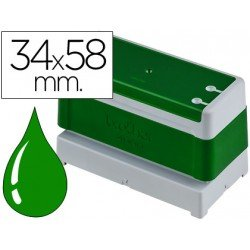 Sello Automatico marca Brother 34 x 58 verde
