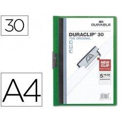 Carpeta dossier pinza central Durable Din A4 verde Capacidad de 30 hojas