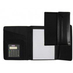 Portadocumentos Carpeta Csp Negro Din A5 con calculadora