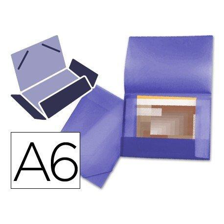 Carpeta lomo flexible con solapas marca Liderpapel Din A6 violeta