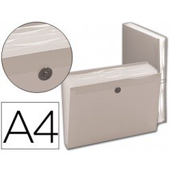 Carpeta clasificadora gomas polipropileno Beautone Din A4 transparente