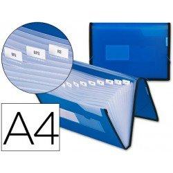 Carpeta clasificadora polipropileno Liderpapel Din A4 color azul