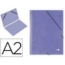 Carpetas de gomas carton Liderpapel Din A2 azul