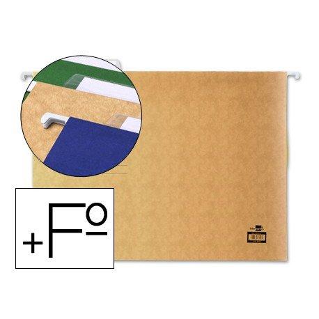 Carpetas colgantes marca Liderpapel folio prolongado visor superior