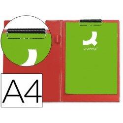 Portanotas plastico con miniclip superior Q-Connect rojo