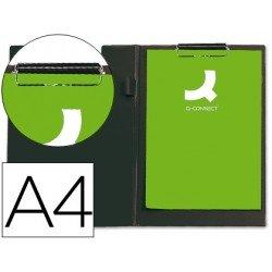 Portanotas plastico con miniclip superior Q-Connect negro