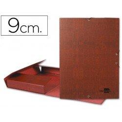 Carpeta de proyectos Liderpapel de carton gomas cuero 9 cm