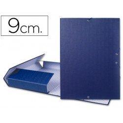 Carpeta de proyectos Liderpapel de carton con gomas Paper Coat lomo 90 mm azul