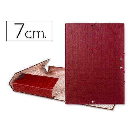 Carpeta de proyectos Liderpapel de carton con gomas Paper Coat lomo 70 mm rojo