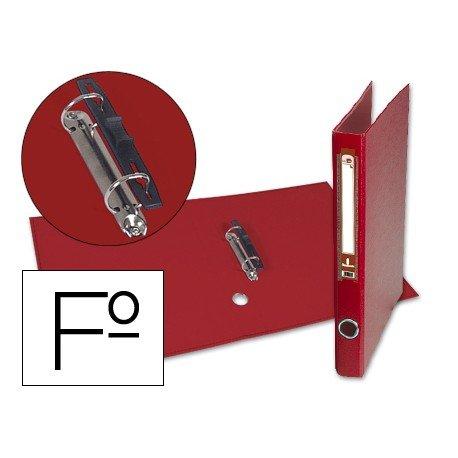 Carpeta anillas carton forrado Liderpapel Paper Coat Documenta lomo 40 mm rojo