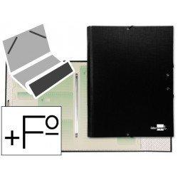 Carpeta clasificadora Paper Coat Liderpapel folio negro