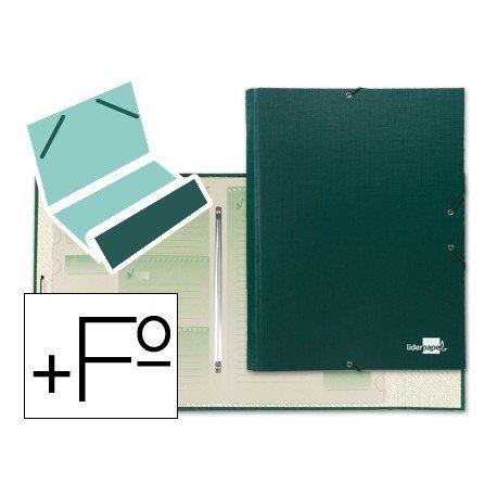 Carpeta clasificadora Paper Coat Liderpapel folio verde