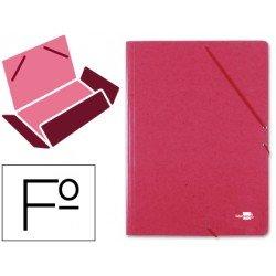 Carpetas de gomas en carton prespan Liderpapel Folio rojo 880 g/m2