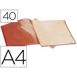 Carpeta escaparate con 40 fundas Beautone rojo
