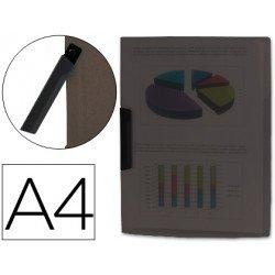 Carpeta dossier con pinza giratoria lateral Liderpapel Din A4 negro