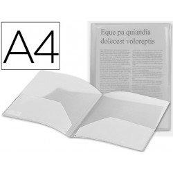 Carpeta dossier doble bolsa Liderpapel Din A4