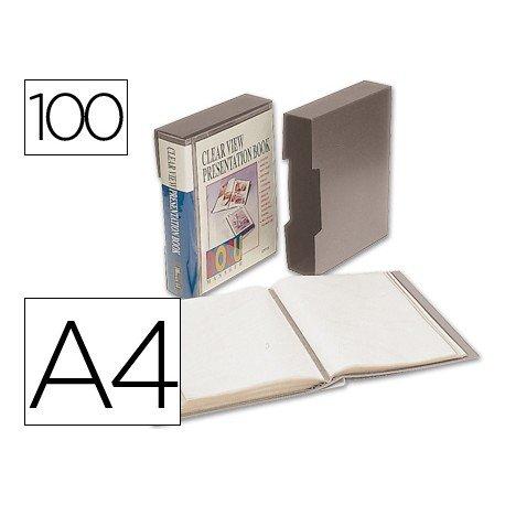 Carpeta escaparate con 100 fundas Beautone gris