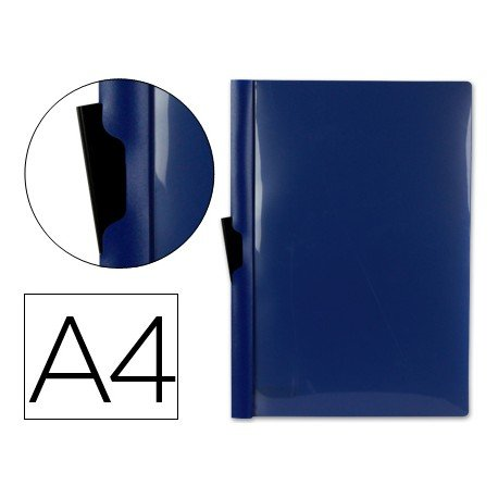 Carpeta dossier con pinza lateral Beautone Din A4 color azul