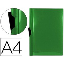 Carpeta dossier con pinza lateral Beautone Din A4 color verde