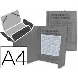 Carpeta lomo flexible con solapas Liderpapel Din A4 color negro translucido