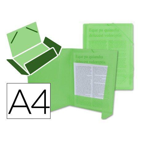 Carpeta lomo flexible con solapas Beautone Din A4 verde transparente