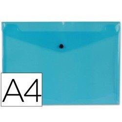 Carpeta tamaño sobre Liderpapel con cierre de broche Color azul