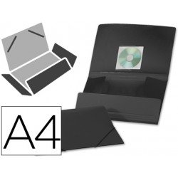 Carpeta lomo flexible con solapas Liderpapel Din A4 color negro