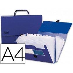 Carpeta clasificadora polipropileno con asa Beautone Din A4