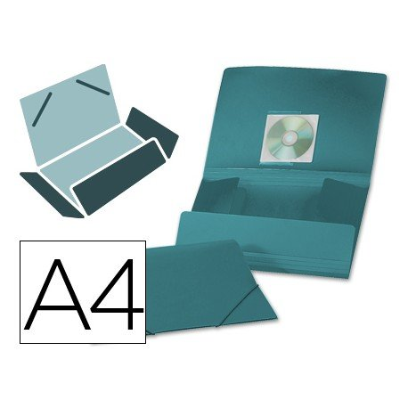Carpeta lomo flexible con solapas Liderpapel Din A4 color verde