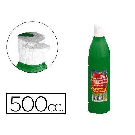 Tempera liquida Jovi color verde oscuro 500 cc