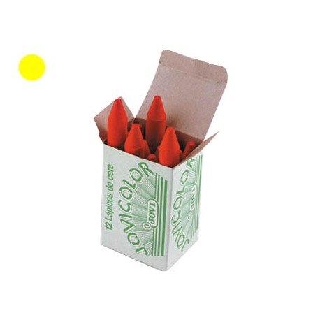 Lapices cera Jovi caja de 12 unidades amarillo claro