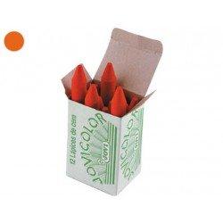 Lapices cera Jovi caja de 12 unidades naranja