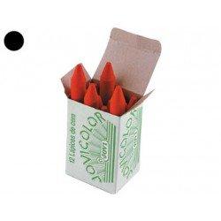 Lapices cera Jovi caja de 12 unidades negro
