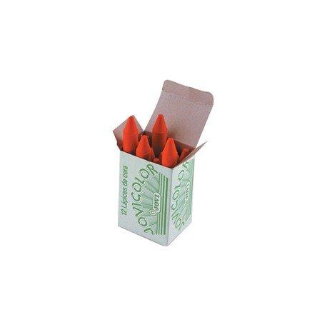 Lapices cera Jovi caja de 12 unidades rojo