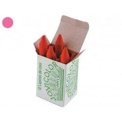 Lapices cera Jovi caja de 12 unidades rosa