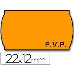 Rollo Etiquetas adhesivas Meto naranja 22 x 12