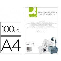 Transparencias Din A4 Q-Connect, válido impresora láser