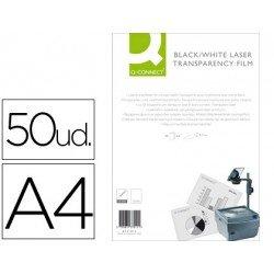 Transparencias Din A4 Q-Connect, válido impresoras láser B/N
