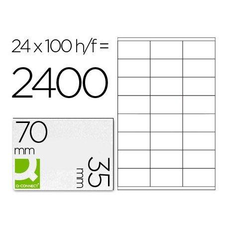 Etiquetas Adhesivas marca Q-Connect 70 x 35 mm