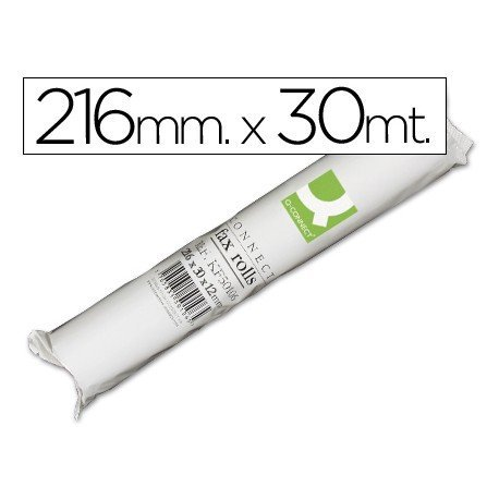 Rollo papel de fax Q-Connect 30m x 216mm.