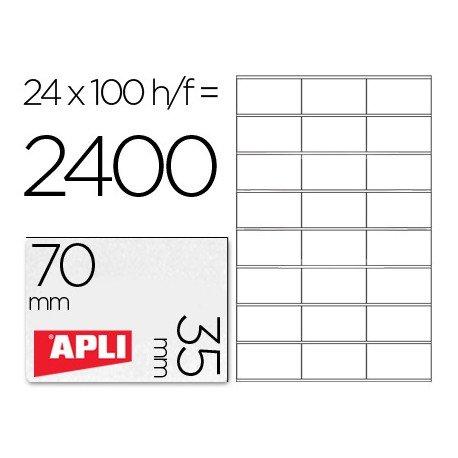 Etiquetas Adhesivas Apli 70 x 35 mm 24 etiquetas por hoja