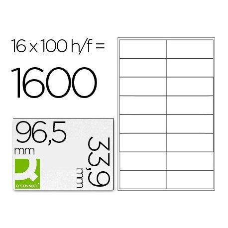 Etiquetas Adhesivas marca Q-Connect 96,5 x 33,9 mm