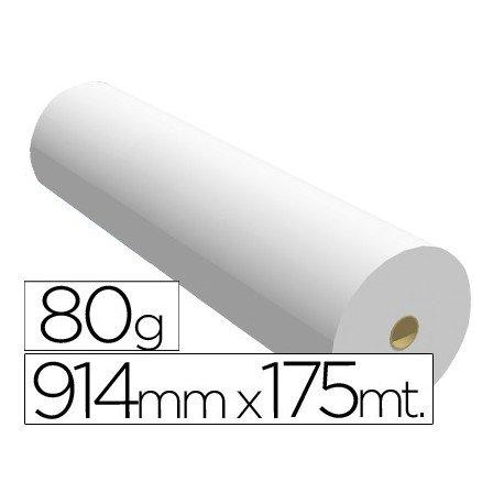 Papel reprografia para Plotter SprintJet 80 g/m2, medidas 914 mm x 175 m