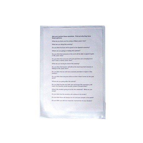 Funda dossier uñero plastico Saro Folio transparente