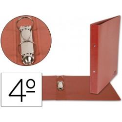 Carpeta marca Liderpapel 2 anillas 40 mm carton cuero cuarto